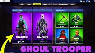 GHOUL TROOPER comes BACK to the SHOP!? ❌ Rare SKIN in Fortnite Battle Royale