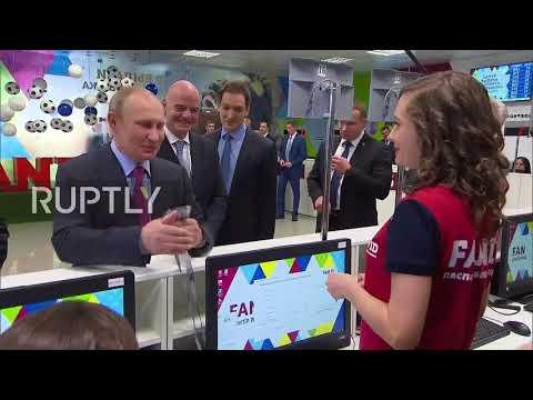 Russia: Putin, Infantino get FAN IDs in Sochi