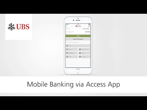 Login To Mobile Banking Via Access App | UBS