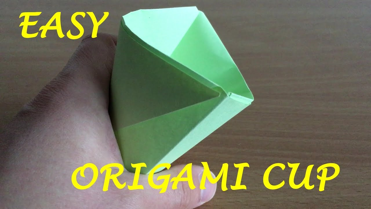 the easiest origami in the world origami cup youtube