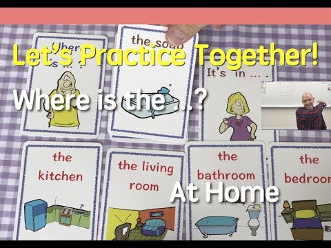 Card Game | At Home | Items and Rooms | 16 | English Speaking Practice | ESL | EFL | ELL
