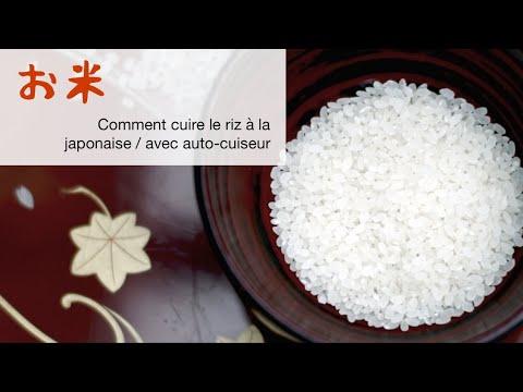 Comment Préparer Le Riz à La Japonaise, Avec Un Auto-cuiseur?