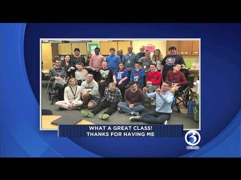 Scot Haney visits Southington High School