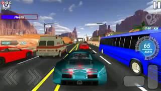 "Highway Fastlane Car Racing - Super Speed Car ""Desert Traffic"" Android Gameplay FHD #2"