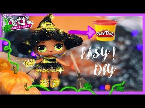 LOL Doll EASY HALLOWEEN GLITTER WITCH COSTUME! CUSTOM DIY! - L.O.L Surprise Doll
