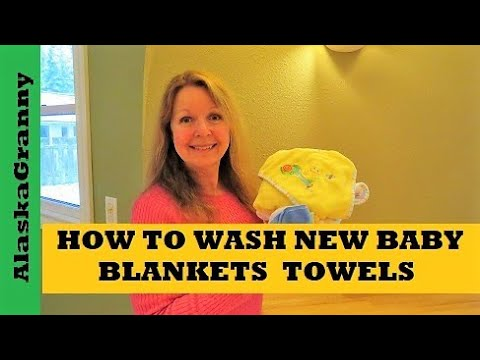 How To Wash New Baby Blankets Towels Clothes Youtube