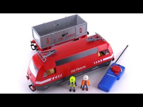 Playmobil cargo train 4010 review youtube - Train playmobil ...