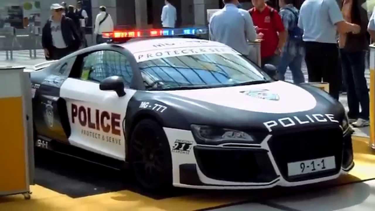 Audi R8 V10 Police Car Call 911