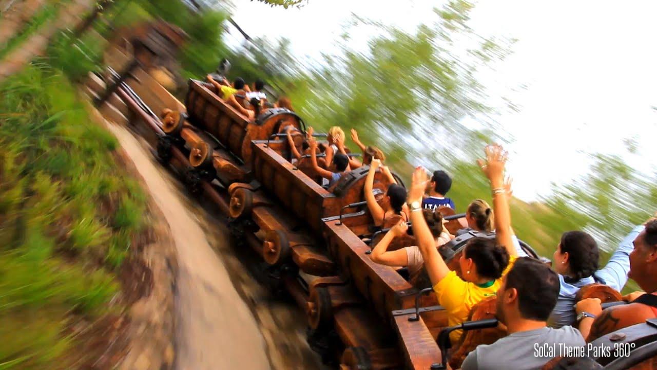 hd snow white roller coaster ride pov seven dwarfs mine train