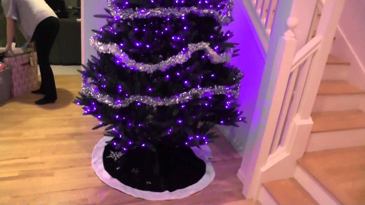 Christmas Tree Trimming Decorating 2015 Pt3 Tinselled Tree Skirt