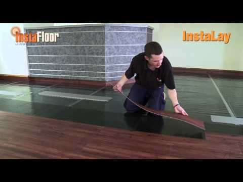LVT installation using InstaLay self-adhesive, acoustic underlay ...