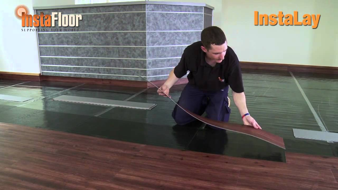 lvt installation using instalay self-adhesive, acoustic underlay