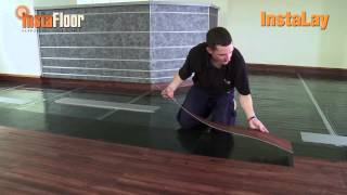 LVT installation using InstaLay self-adhesive, acoustic underlay (loose laid)