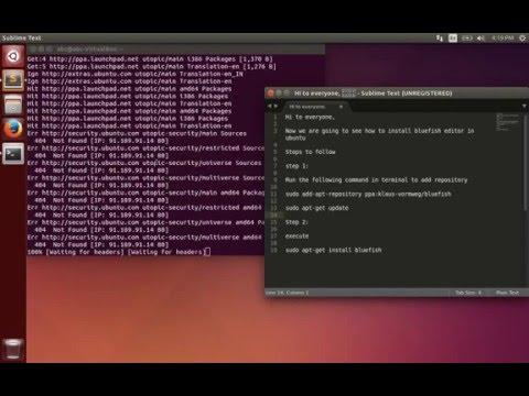 How To Install Bluefish Editor In Ubuntu
