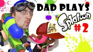 Lets Play SPLATOON Part 2:  TURF WAR!! Dad