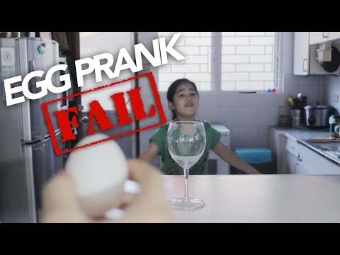 Egg Prank Fail