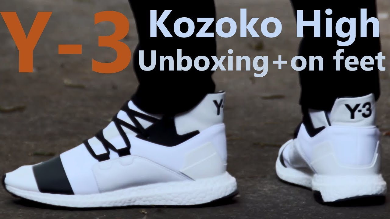 ccf66eaa6a10d Adidas Y-3 Kozoko High BOOST SS17 Unboxing + On Feet review BEST BOOST  SNEAKER 2017