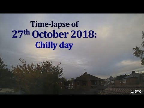 27 October 2018 Time-lapse: Chilly day