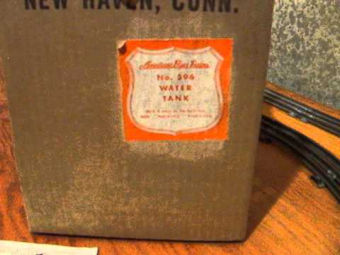 American Flyer Water Tank/Tower #596 - YouTube on