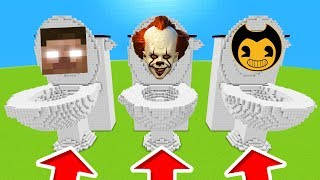 Minecraft PE : DO NOT CHOOSE THE WRONG TOILET! (Herobrine, Pennywise & Bendy)
