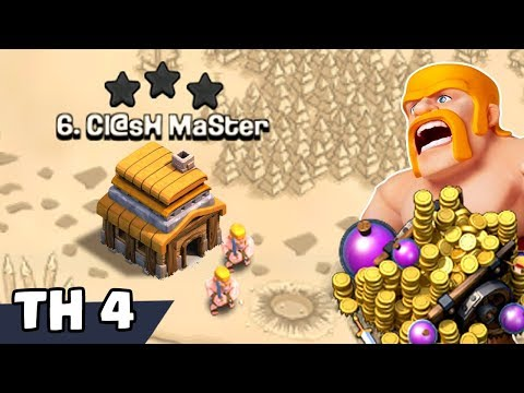 NEW TH4 WAR BASE 2019 Anti 3 STAR | Town Hall 4 (TH4) WAR BASE CLASH OF CLANS