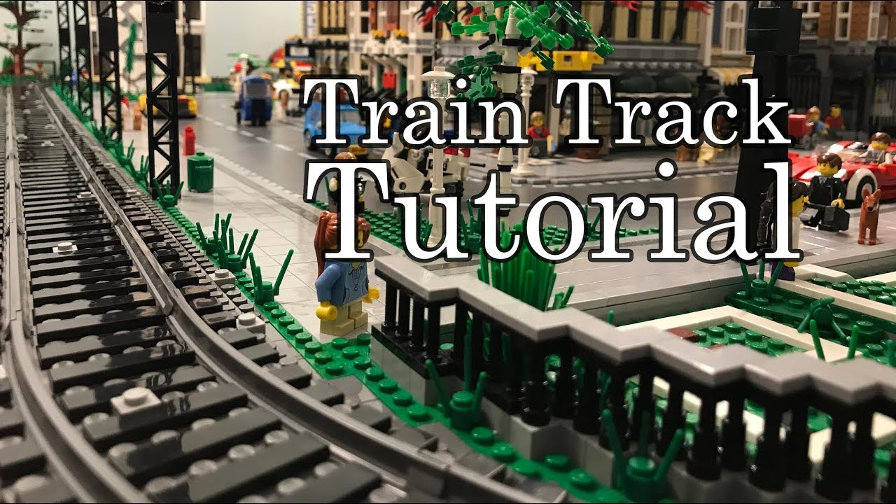 Lego Train Track Tutorial For A Lego City Layout Youtube