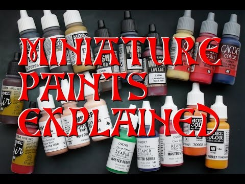 Miniature Paints Explained