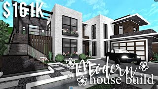 Modern House Build | Roblox Bloxburg | GamingwithV