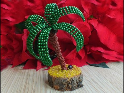 How to make a tree with beads - coconut with beads tree making