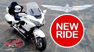 My new Honda Goldwing Tour DCT with options you will not see on any other Goldwing.