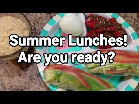 Second week of Summer - Lunches and snacks
