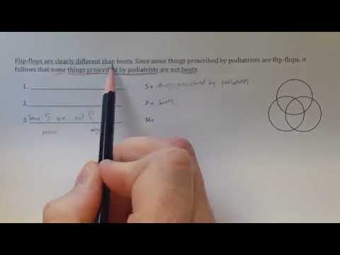 Ordinary Language Argument To Standard Syllogistic Form 1 Youtube