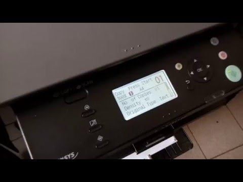 Canon MF4410 MFP printing a test page - YouTube