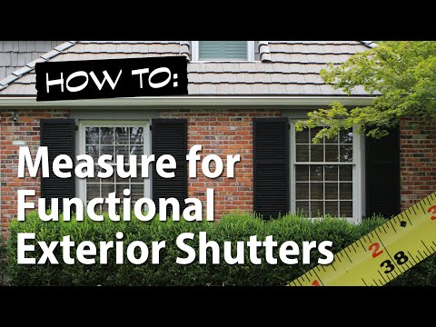 How to Measure for Functional Exterior Shutters