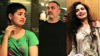 Aamir Khan Being REAL HAANIKAARAK BAPU To Fatima, Zaira, Sanya, Suhani | Behind The Scenes Of DANGAL