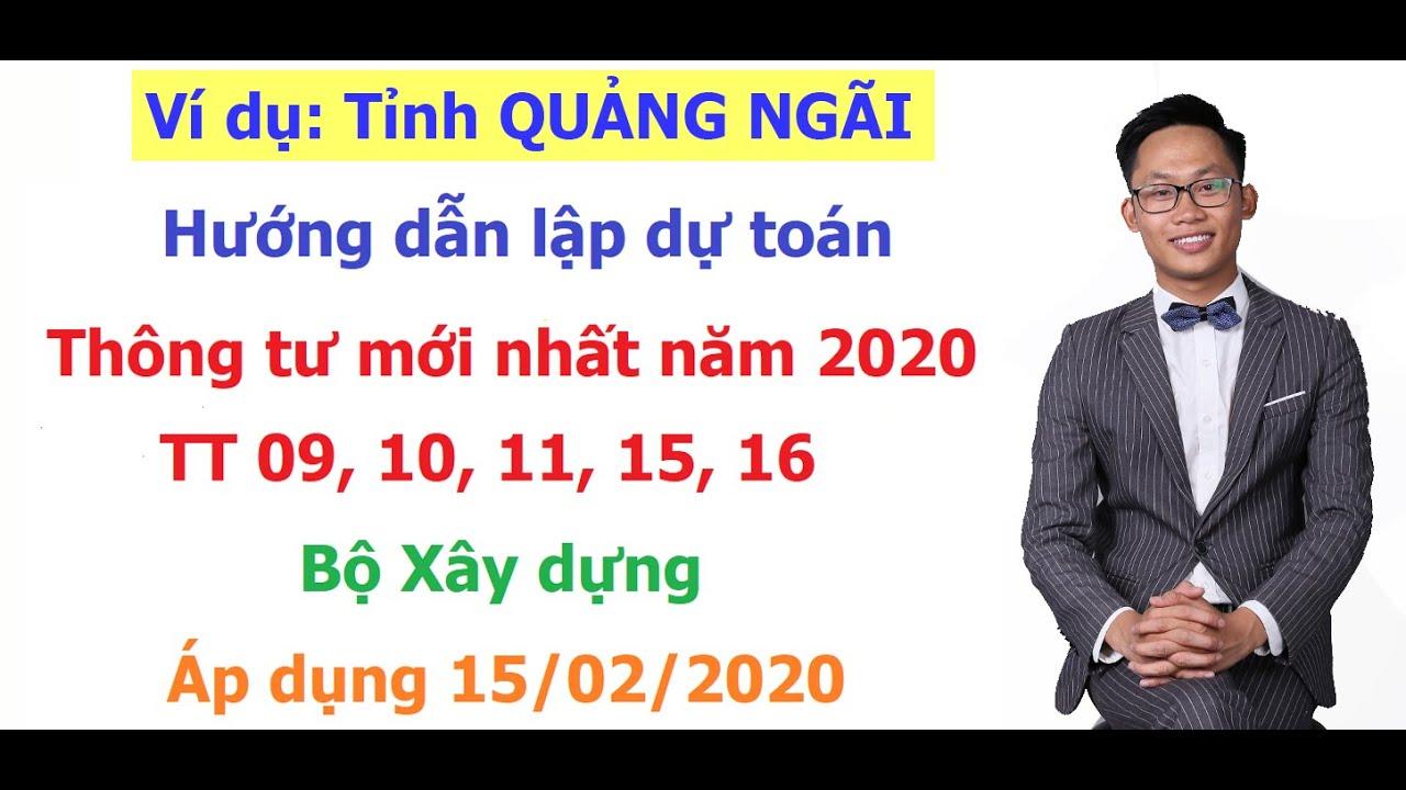 HƯớng dẫn lập dự toán theo Thông tư 09/2019/TT-BXD của Bộ Xây dựng