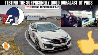 SURPRISINGLY GOOD! Civic Type R (FK8) Pocono Track Day | AutoZone Duralast GT Brake Pad Test