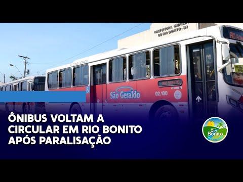 Ônibus voltam a circular em Rio Bonito após paralisação