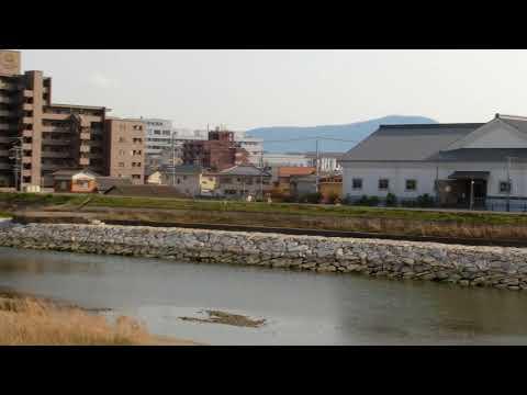Mt. Iinoyama (Sanuki Fuji)  viewed from Marugame city 丸亀市内から讃岐富士