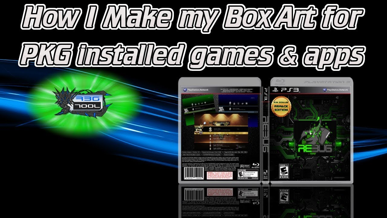 PS3 - how I create box art for my PS1/2/3 pkg installed games & apps with  Paint net (PIC1 PNG) file