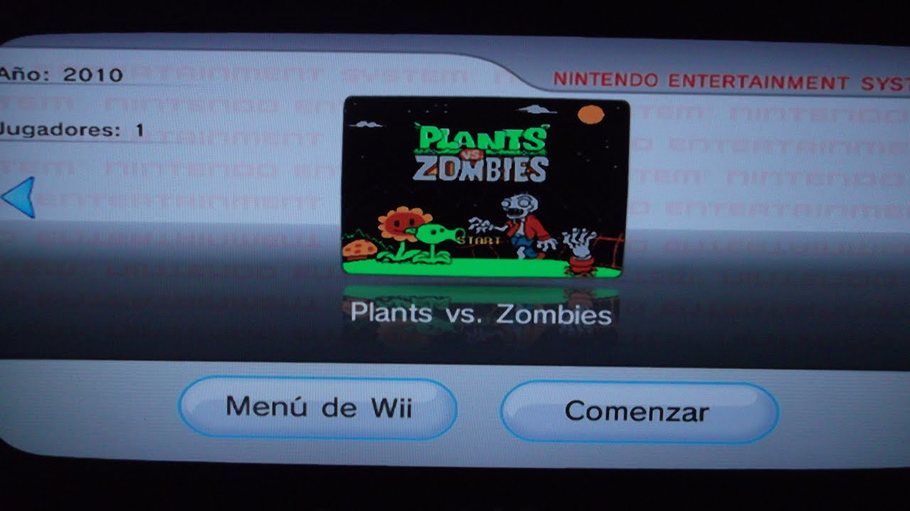 Plants Vs Zombies Nes Demake Virtual Console Nintendo Wii Link