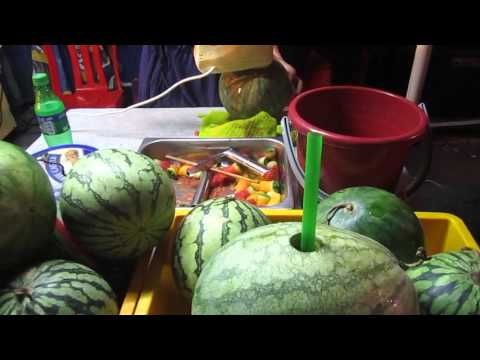 REAL watermelon juice @ Jonker street, Melaka, Malaysia