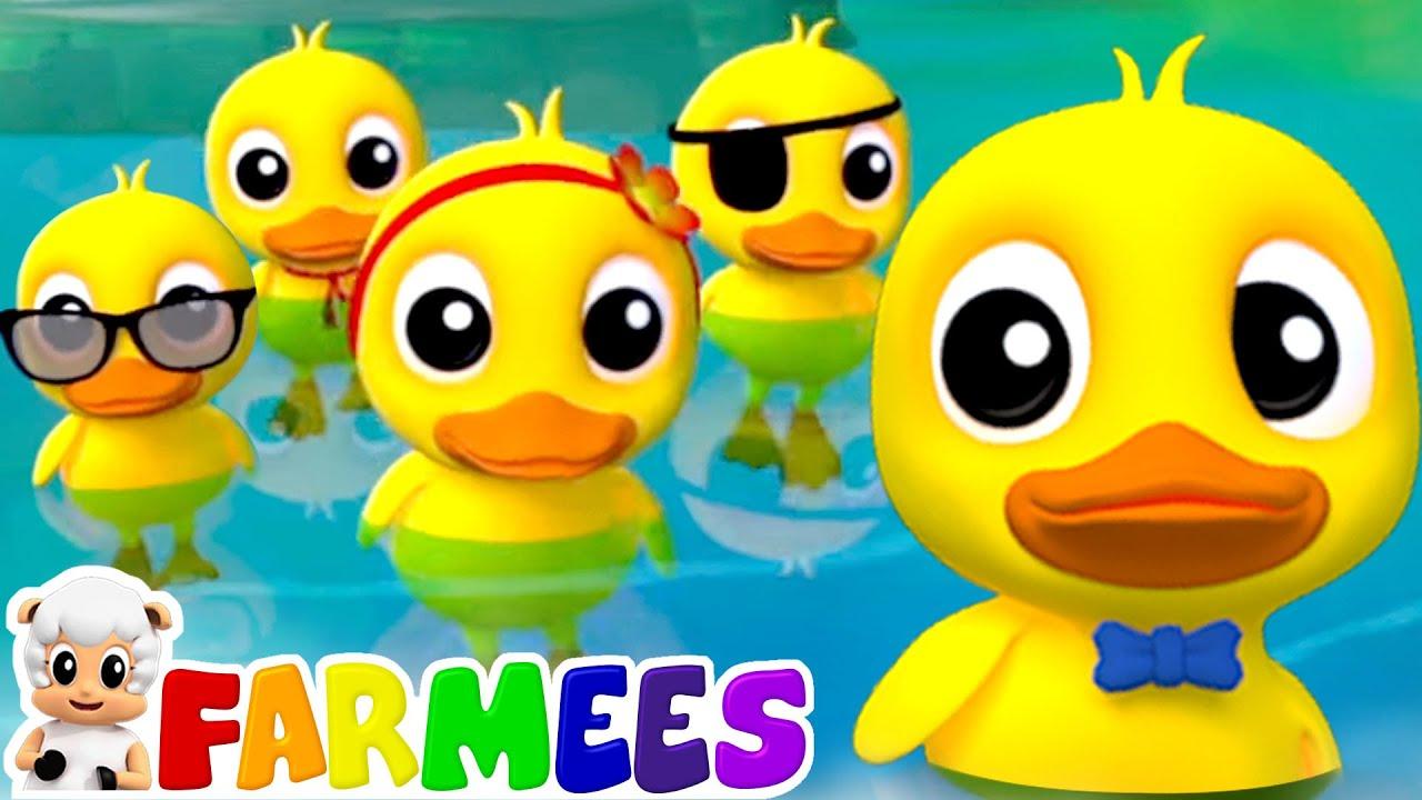 Five little Ducks - The Best Songs for Children   Nursery Rhymes & Kids Cartoon Songs by Farmees