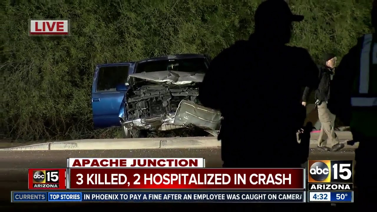 Three Killed Two Hospitalized After Crash In Apache Junction YouTube - Apache junction car show