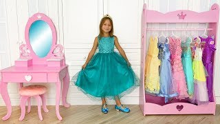 Sofia Dress Up in Princess and Playing With Toys - Funny Stories for Kids