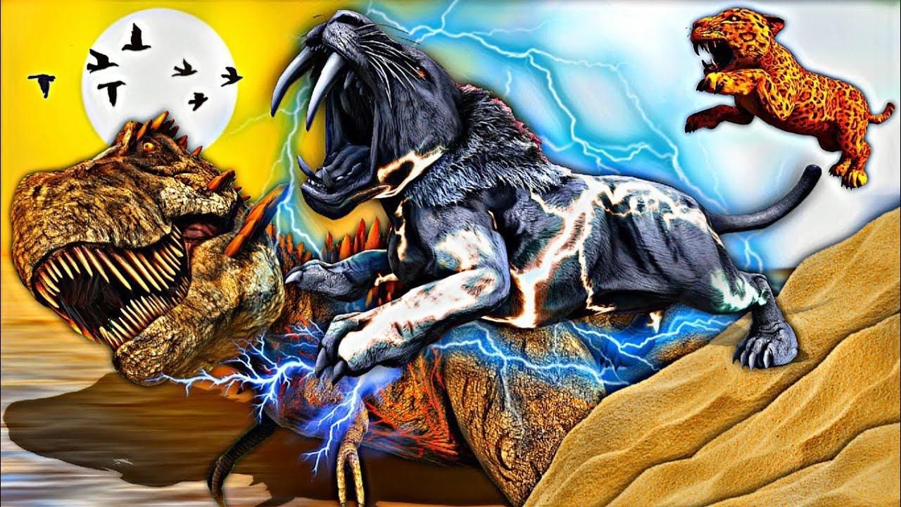O Bebê Tigre Elétrico Evoluiu e Virou Um Gigantesco Engolidor de Titans! Onça Fnaf - Ark Dinossauros