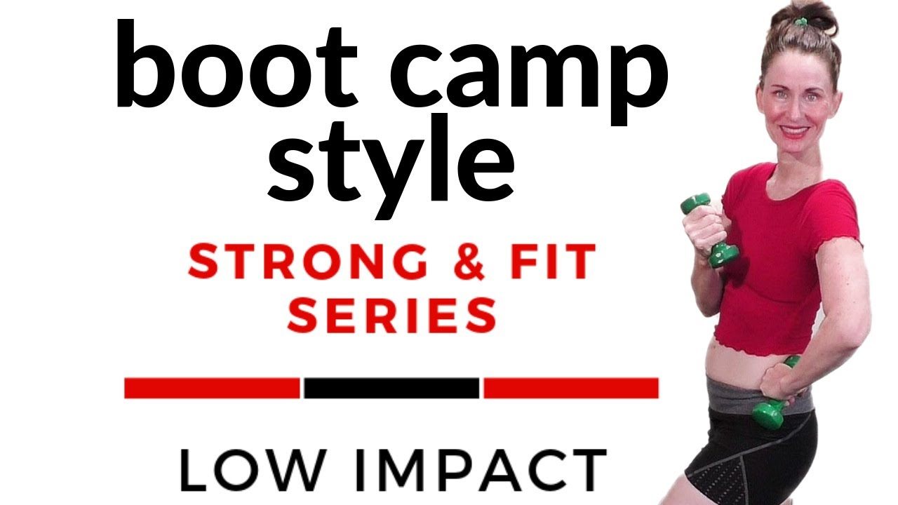 Low Impact Workout Boot Camp Cardio Strength Circuit Strong Style Fit Series 4 Angiefitnesstv