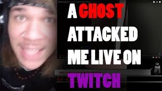 ATTACKED BY A GHOST ON LIVESTREAM