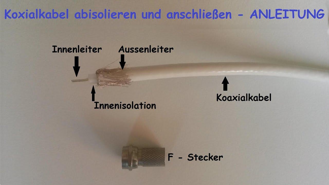 F-Stecker auf Koaxialkabel richtig montieren – F Stecker auf ...