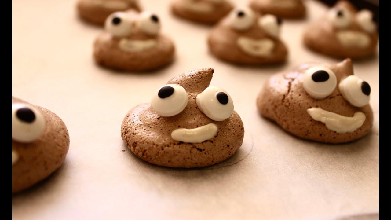Easy party food recipe how to make poo emoji meringues youtube forumfinder Gallery